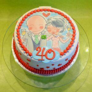 Spiksplinternieuw taartje 30 jaar getrouwd - dubbelhandig SC-13