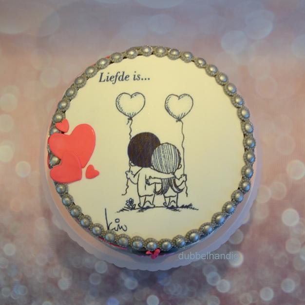 taartje 10 jaar getrouwd - dubbelhandig