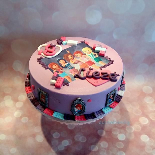 Super taart lego friends - dubbelhandig #FE82