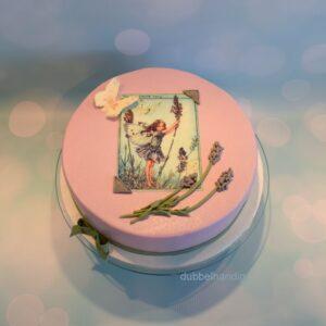 taart bloemenkind lavendel