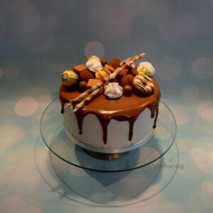 drip-taart chocola