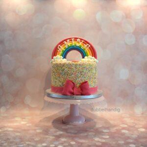 taart regenboog