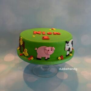 boerderijdieren taart