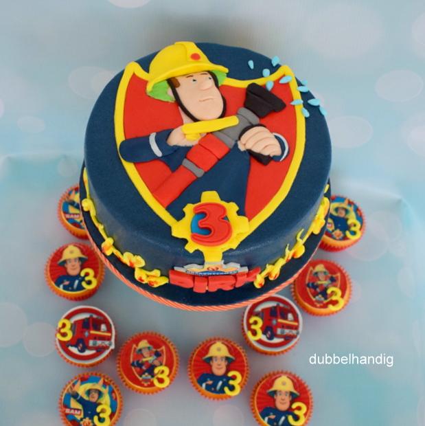 taart en taart en cupcakes Sam   dubbelhandig taart en