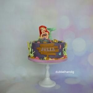 taart ariel/zeemeermin lila