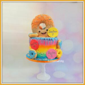 taart vrolijke donut