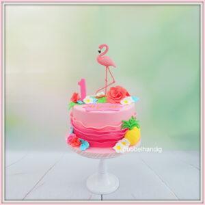 taart flamingo