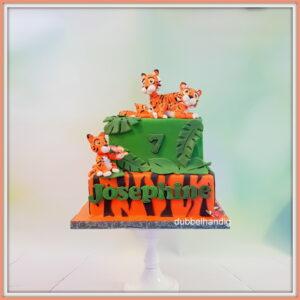 stapeltaart tijgerfamilie