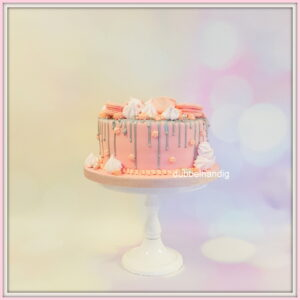 taart roze-zilver drip