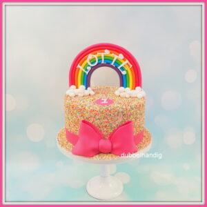 taart regenboog-discodip