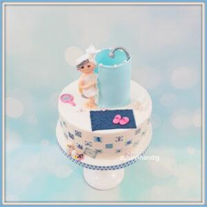 taart douche-badkamer-delfts blauw