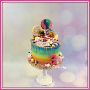 taart snoep-gouden drip-regenboog