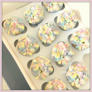 cupcakes pastel-regenboog