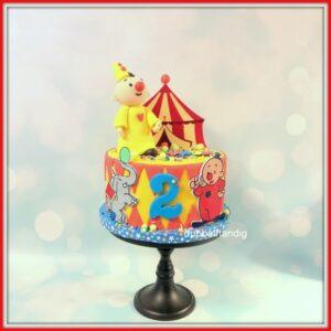 taart vrolijke clown