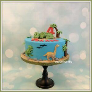 taart draakje en dinos