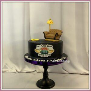 taart friends zwart
