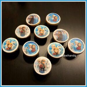 cupcakes frozen anna-elsa-olaf