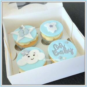 cupcakes babyblauw