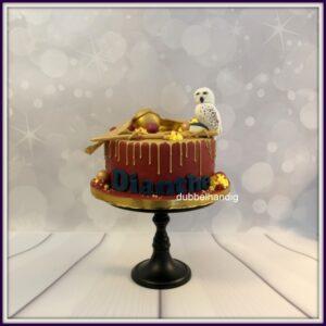 taart harry potter gouden drip