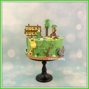 taart jungle groen
