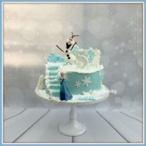 taart frozen met trap olaf en elsa