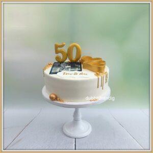 taart met foto 50 jaar getrouwd
