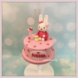 taartje konijn roze