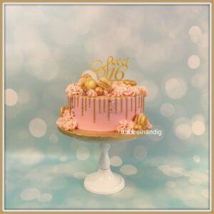 driptaart roze-goud sweet 16