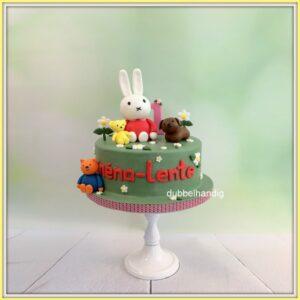 taart konijntje en vriendjes